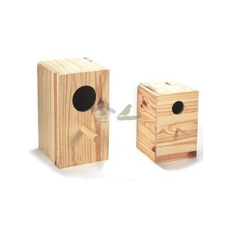 Nido de madera para Ninfa