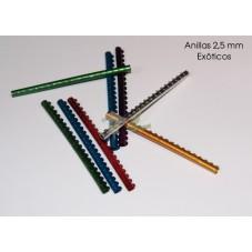 Anilla metalica pajaros 2,5 mm tira 20 unid - Exoticos