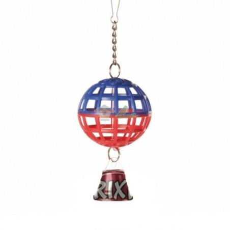 Pelota jaula con cadena y campana, 7 cm