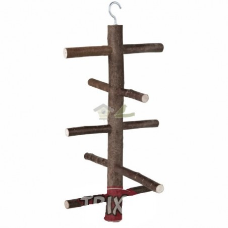 Posadero aviario madera, 27 cm