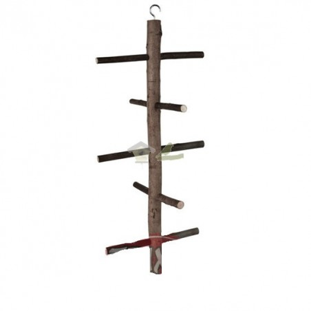 Posadero aviario madera, 47 cm