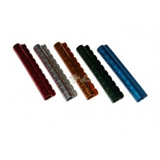 Tira de anillas metálicas abiertas de 4 mm.