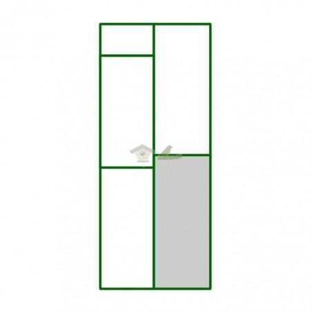 Panel PVC cuadro inferior derecho del panel puerta peatonal