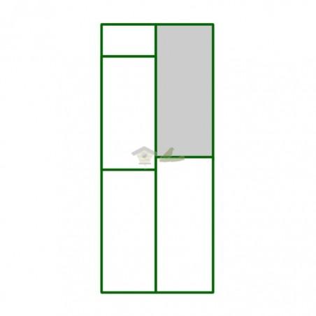 Panel PVC puerta guillotina bebedero del panel puerta peatonal