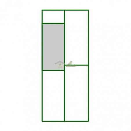 Panel PVC cuadro superior puerta peatonal