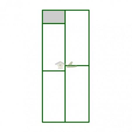 Panel PVC cuadro superior pequeño del panel puerta peatonal