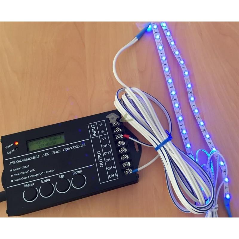 Luz azul efecto luna para programador PA420
