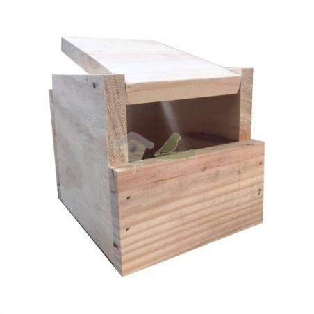 Nido de madera para Isabelitas